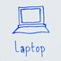 Laptop drawing